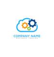 engineering cloud logo icon design vector image