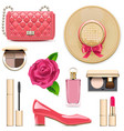 fashion accessories set 4 vector image vector image