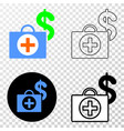 financial medical case eps icon with vector image vector image