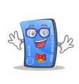geek credit card character cartoon vector image vector image