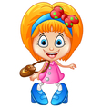 girl shopping cartoon vector image vector image
