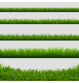 green grass big borders collection transparent vector image vector image