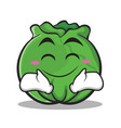 happy cabbage cartoon character style vector image vector image