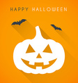 Happy halloween card vector image