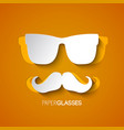 hipster mustache and glasses design vector image