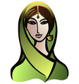 Indian woman in a sari vector image