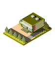 isolated isometric shop building icon EPS vector image vector image