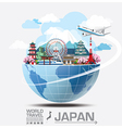 Japan Landmark Global Travel And Journey vector image vector image