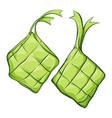 ketupat asian traditional rice dumpling vector image