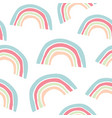 kids hand drawn pattern with colorful rainbows vector image vector image