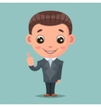 Like thumb up businessman mascot happy support vector image vector image