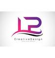 lp l p letter logo design creative icon modern vector image vector image