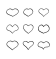 main heart shapes set vector image