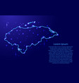 map honduras from the contours network blue vector image vector image