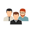 men collective team icon male avatars vector image vector image