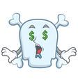 money eye skull character cartoon style vector image