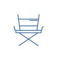 movie director chair line icon concept movie vector image