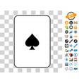 peaks suit card with bonus vector image vector image