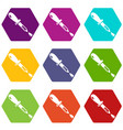 pipette icons set 9 vector image vector image