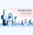promotion with megaphone big loudspeaker vector image
