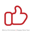 red mitten thumb up icon vector image vector image