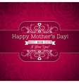 Red Mothers day greeting card with roses vector image vector image
