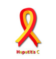 red yellow ribbon world hepatitis day vector image vector image