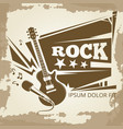 rock music vintage emblem design vector image