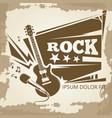 rock music vintage emblem design vector image vector image