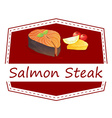 Salmon Steak vector image vector image