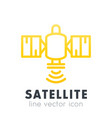satellite icon in line style over white vector image vector image
