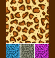 seamless leopard or cheetah fur background vector image vector image