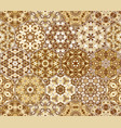 set from brown hexagonal patterned tiles vector image