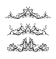 Set of borders with decorative graphic elements vector image vector image