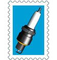 Sparking plug stamp vector image vector image