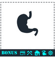 stomach icon flat vector image