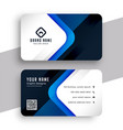 stylish blue modern professional business card vector image vector image
