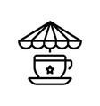 tea stall vector image vector image