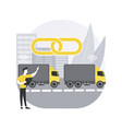 truck platooning abstract concept vector image vector image