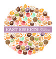 turkish delight eastern sweets vector image