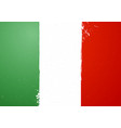 vintage grunge texture flag of italy vector image vector image