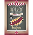 Vintage HOT DOG poster template vector image