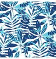 vivid bright jungle foliage seamless pattern vector image vector image