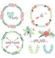 Wedding Wreath Laurel Elements vector image vector image