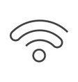 wi fi thin line icon vector image