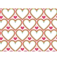 Wrapping paper Valentines Day Heart shape vector image vector image