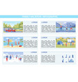 written family vacation infographic cartoon vector image vector image