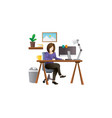 young female freelancer vector image