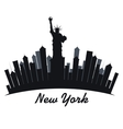 new york city cityscape vector image
