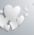 3d White Paper Abstract Love Background vector image